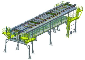 Over head Accumulating Pallet Conveyor: flexible and modular design