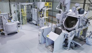 Drum Shot Blasting Machines at Sinto America's Test Center