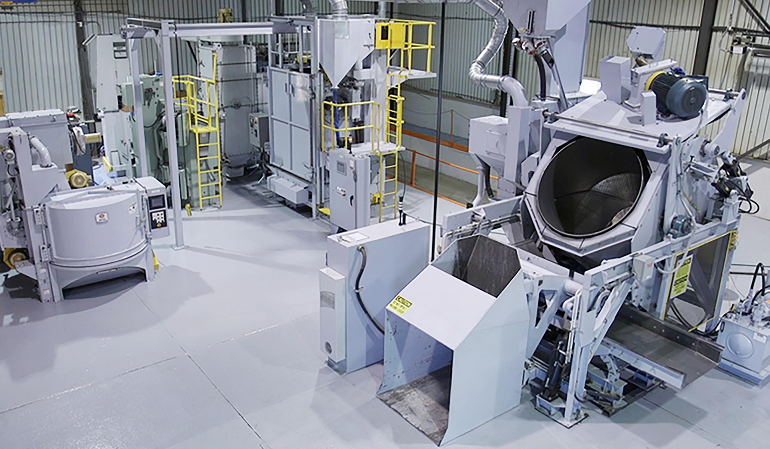 Drum Shot Blasting Machines at Sinto America's Test Center
