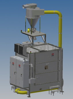 robotic peening machine Front ISO View Door Closed-Jan 2020
